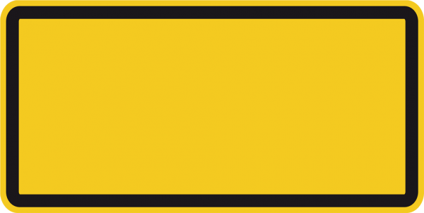 Zusatzschild für Warnzeichen
