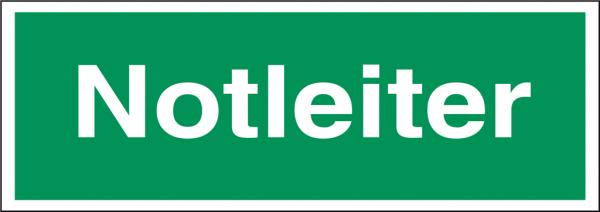 Schild Notleiter