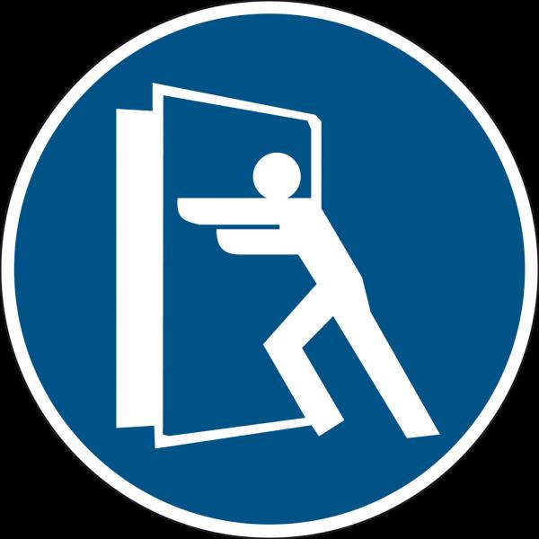 Schild Türe immer schließen