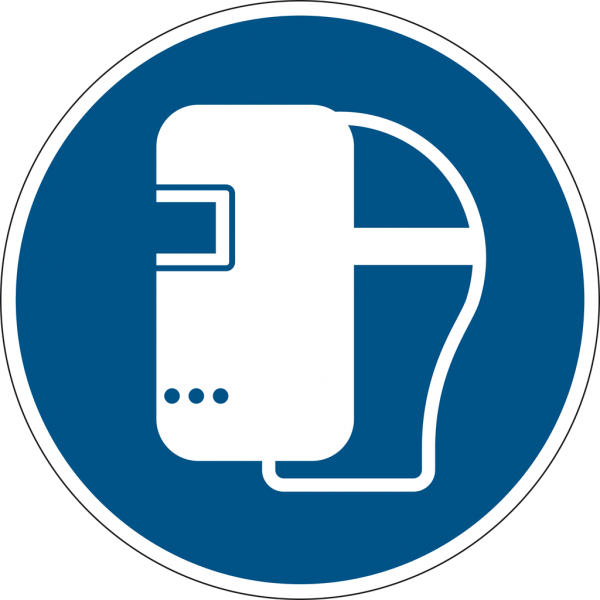 Schild Schweißmaske benutzen