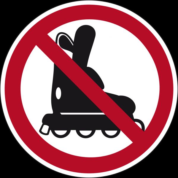 Schild Inlineskates fahren verboten