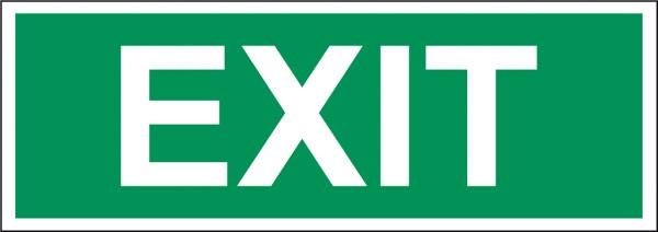 Schild EXIT
