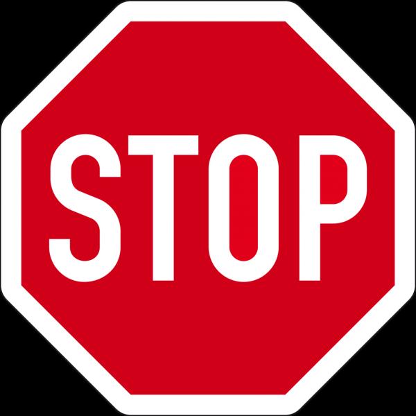 Verkehrsschild Stoppschild