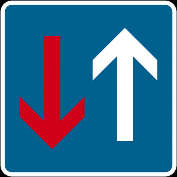Verkehrsschild Vorrang vor dem Gegenverkehr