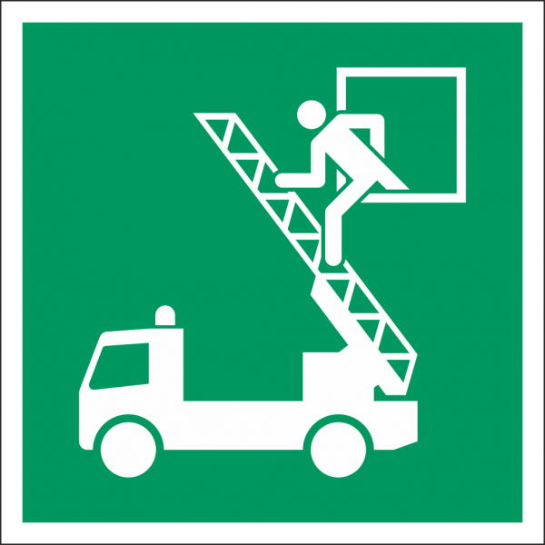 Schild Rettungsausstieg