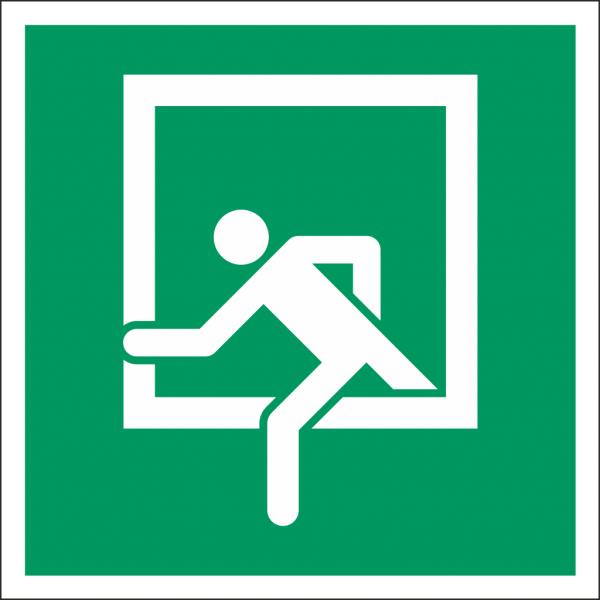 Schild Notausstieg