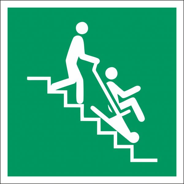 Schild Rettungsstuhl