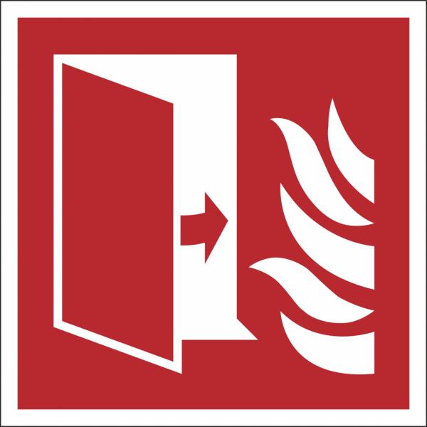 Schild Brandschutztür