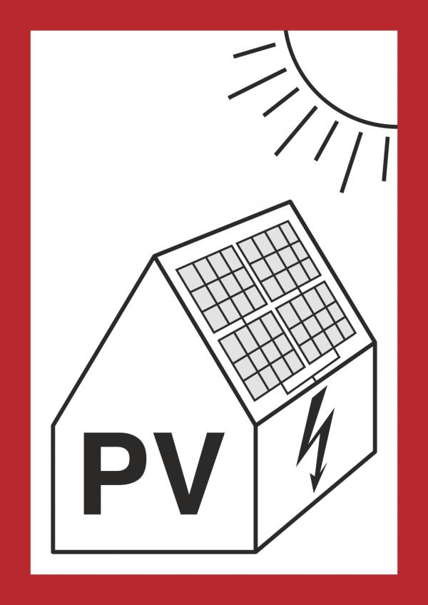 Feuerwehrschild Photovoltaikanlage