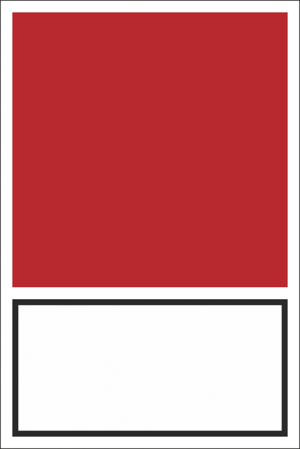 Brandschutz-Kombischild/ Zeichen und Text nach Wahl