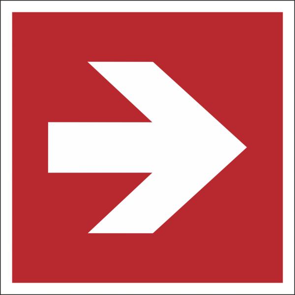 Brandschutzschild Richtungspfeil gerade
