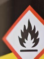 Gefahrstoff GHS Aufkleber feuergefährlich